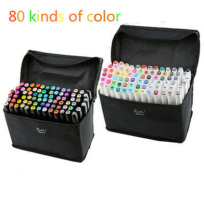 80 colors TOUCH FIVE five generations double use of alcohol oily mark pen sets
