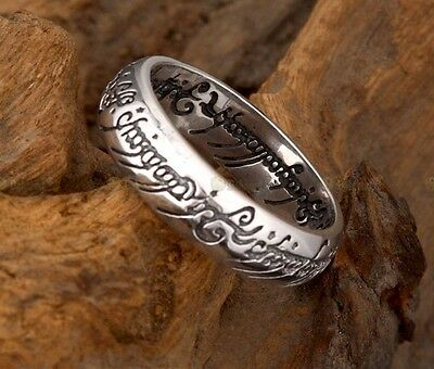 New Lord Of The Ring LOTR 925 Sterling Silver The one Ring With Chain Multi-size