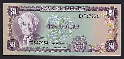 Jamaica One Dollar $1 Banknote 1982 P-64a UNC