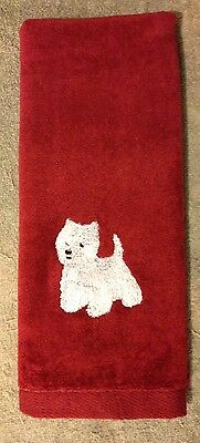 West Highland White Terrier, Hand Towel, Embroidered, Custom, Personalized, Dog
