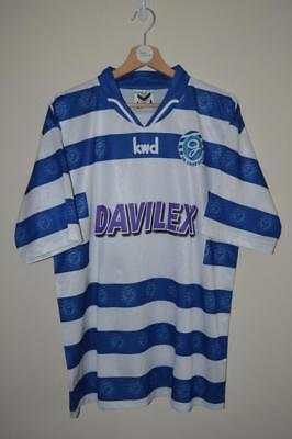 Retro De Graafschap Kwd Davilex Blue & White Home Shirt Uk Mens Large