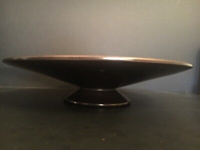 Vintage Bauer Pottery Platter with Foot