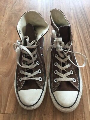 Converse Chuck Taylor Brown Hi Top Sneakers, Size 8 W, 6 M.