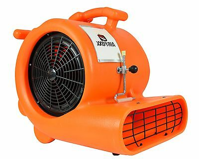 0.33 HP Air Mover Carpet Dryer Blower Floor Fan with Clamp Air Blower 1900 CFM