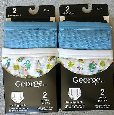 LOT OF TWO NEW Potty Toilet Training Pants 30 Months 2 Pairs Per Pack Toddler