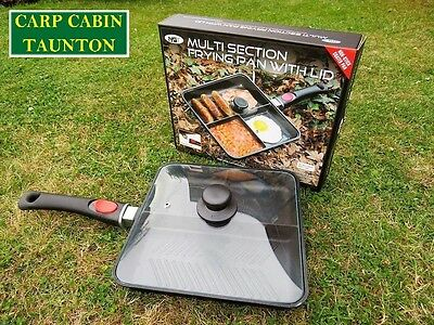 New NGT multi section frying pan with lid for carp/coarse and sea fishing