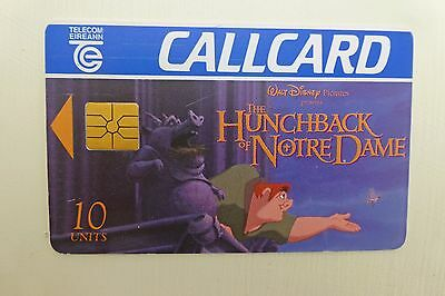 Vintage Irish Callcard Telecom Eireann | Disney The Hunchback of Notre Dame