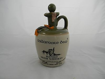 Vintage Tullamore Dew / Uisge Baugh Ceramic Irish Whiskey Jug Dublin, Ireland
