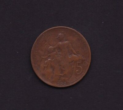 France 5 Centimes Coin 1900 Error Type missing 1 from 1900