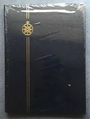 "⭐️Blue Compass Stamp Stock Book -16 Pages/ 32sides ~BLACK PAGES ~ 12"" X 9""⭐️⭐️⭐️"