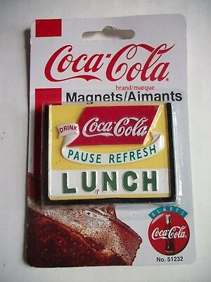 Vintage 1998 Coca-Cola Coke Magnet Pause Refresh Lunch New in Package