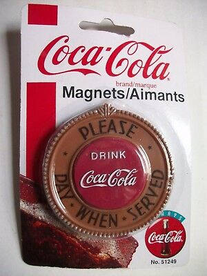 Vintage 1998 Coca-Cola Coke Magnet Pay When Served New in Package