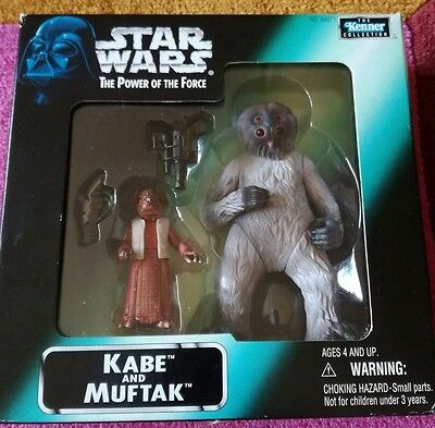 Star Wars Power Of The Force  - Kabe & Muftak coffret figurines  1998 NEUF