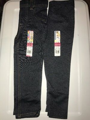 NWT ✿ Lot of 2 Garanimals 3T Girl's Leggings Denim Stiched Pants Bottoms Jegging