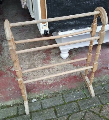 Victorian Pine style Towel Rail Stand Freestanding