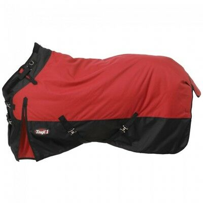 """Tough-1 1200D Waterproof Poly Snuggit Turnout Blanket - Red - 69"""""""