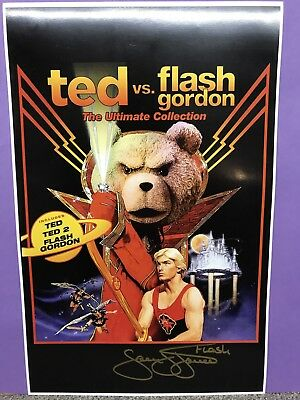 Flash Gordon Sam Jones Signed TED Poster