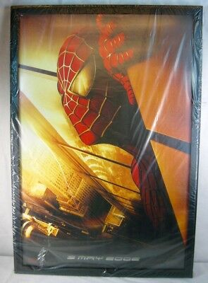 Spiderman 2002 Original Recalled Advanced 2 Sided Movie Poster Pro Frame 27x40""
