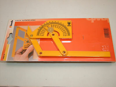 Angle finder protractor,plastic with brass fittings,new