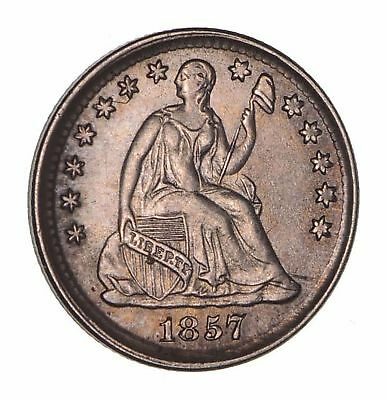 1857 Seated Liberty Half Dime - Not Circulated *1655