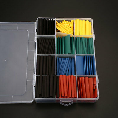 530pcs/Set Heat Shrink Tubing Tube Connection Sleeving Wire Wrap Cable Sleeve