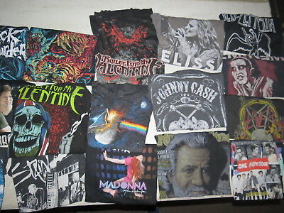 Lot Of 62 Concert T Shirts Vintage T Shirts Vintage Tees Rock Pop Country Metal