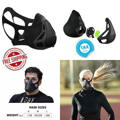 Workout Mask 4 Level Adjustable Altitude Simulating Oxygen Control Resistance