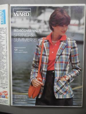 1981 Montgomery Ward Spring/Summer Catalog Fashion Home Decor Vintage Hard Cover