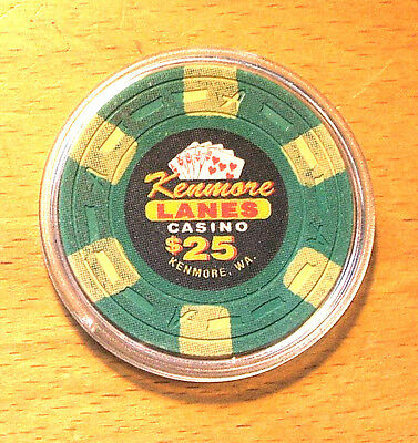 Kenmore Lanes $25. CASINO CHIP - Kenmore, Washington