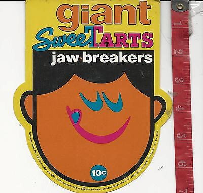 Vintage display Giant Sweet Tarts Jawbreakers machine card FREE SHIPPING