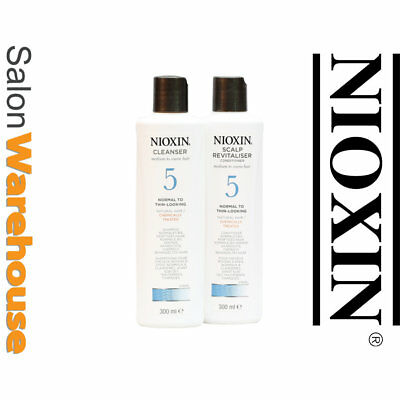 Nioxin System 5 Cleanser Shampoo & Scalp Revitaliser Conditioner 300ml Duo Pack