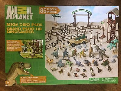 Animal Planet Mega Dino Park 85 Pieces Dinosaur Play Set NEW