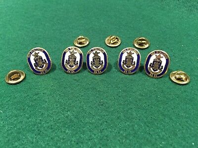 Lot of 5 1980's Vintage US Navy USS Wisconsin BB 64 Pins