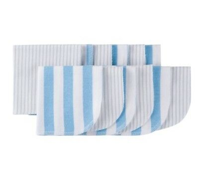 Gerber Baby Boy 12-Pack Blue/Gray Flannel Reusable Wipes BABY CLOTHES GIFT