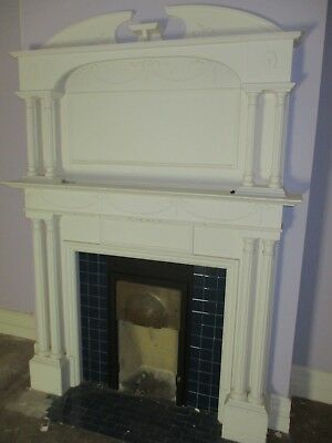 Large Reclaimed painted fire surround with matching over mantle