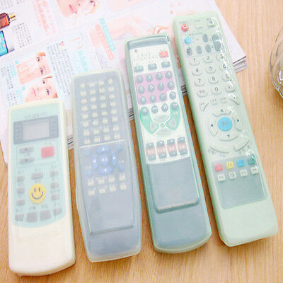 Clear TV Remote Control Set Waterproof Dust Silicone Skin Protective Cover Case