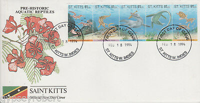 St Kitts  Pre Historic Reptiles   Fdc  1994