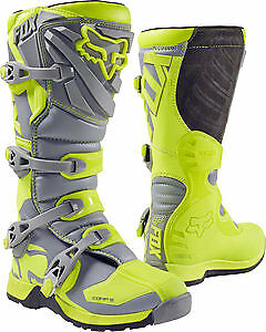 Fox Racing Comp 5 2017 Youth MX/Offroad Boots Yellow/Gray