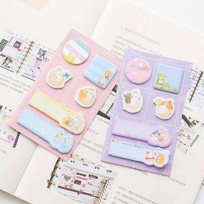 1X Kawaii Rabbit Memo Pads Sticky Notes School Office Supply Stationery Paper