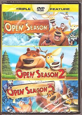Open Season 1, 2 & 3 - DVD Movie Triple Feature Collection BRAND NEW