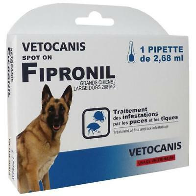 VETOCANIS Pipette Spot-on Fipronil - Pour grand chien