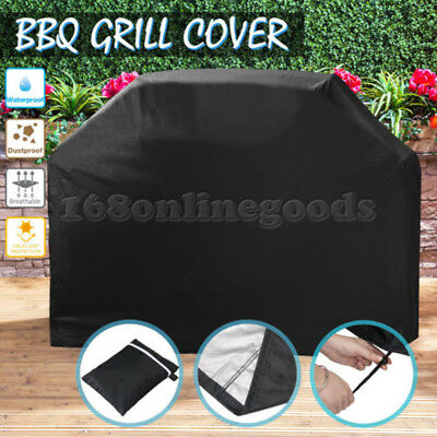 145/170cm Small/Large 4 5 6 Burner Hooded BBQ Barbecue UV Protector Grill Cover