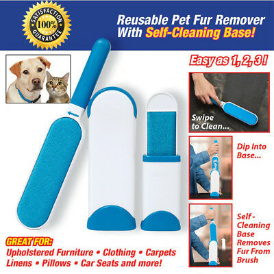 Magic Hurricane Fur Wizard Cloth Fabric Brush Pet Fur & Lint Remover Portable