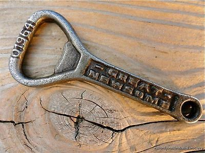 Antique Style Great Newsome Brewery Cast Iron Bottle Opener Real Ale