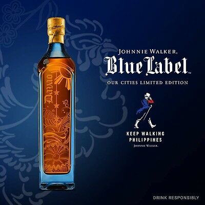Johnnie Walker Sealed Blue Label DAVAO Sold Out Very Rare Serial Numbered