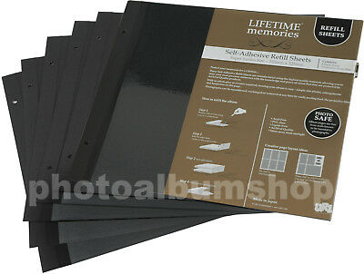 6 x UR1 NCL Super Jumbo Photo Album Black Refills 62782 / YR-8005/B * SIX PACK