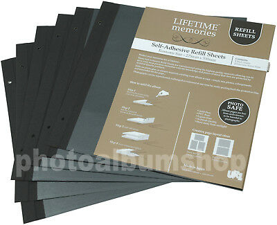 6 x UR1 NCL Economy Photo Album Black Refills 62780 / YR-2005/B * SIX PACK