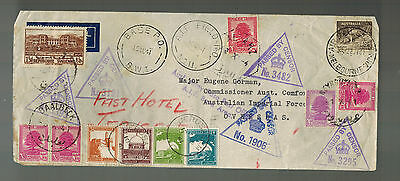 1941 Australia Cover to Eugene Corman Imperial Forces Overseas Palestine Fast Ho