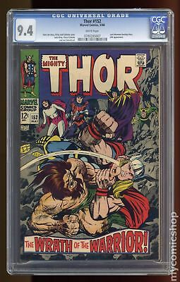 Thor (1962-1996 1st Series Journey Into Mystery) #152 CGC 9.4 0780285007