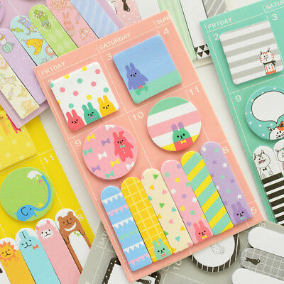 Kawaii Cute Cartoon Weekly Plan Memo Pads Sticky Notes Stick Label Paper